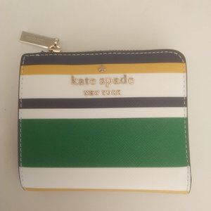 Kate Spade New Multi-Colored Bifold L-Zip Wallet